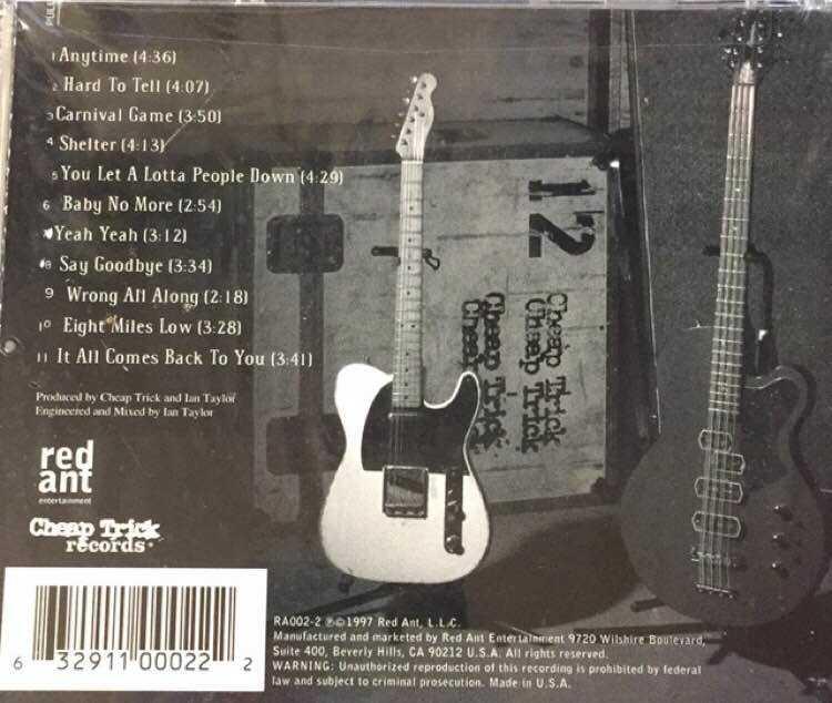 Sealed Cd Cheap Trick 1997 Red Ant Vinylbay777