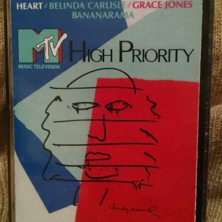 USED Cassette MTV High Priority Capitol Records 1986