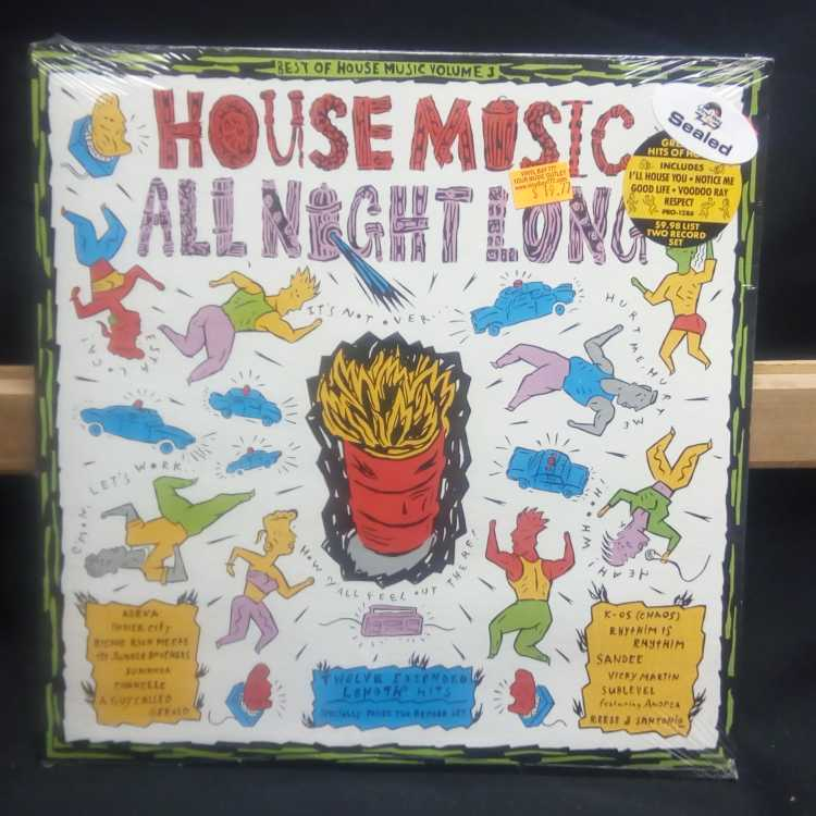 Sealed 12 2xlp various artists best of house music volume for 1990 house music