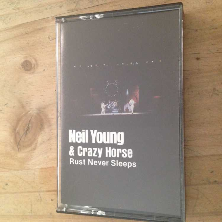 used cassette neil young amp crazy horse rust never sleeps