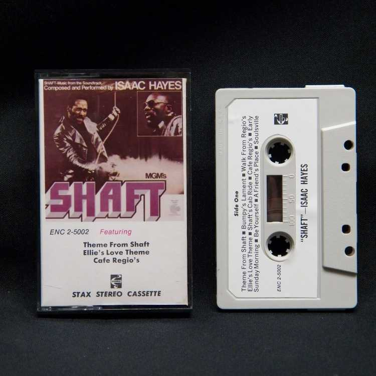 Used Cassette Isaac Hayes Shaft Enterprise Records Colored