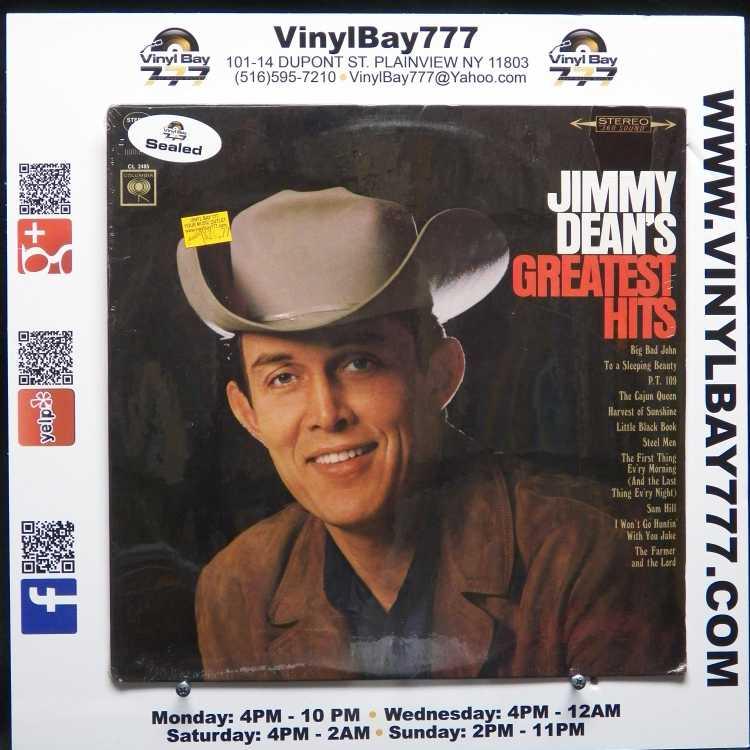 SEALED 12″ LP Jimmy Dean Jimmy Dean's Greatest Hits Columbia