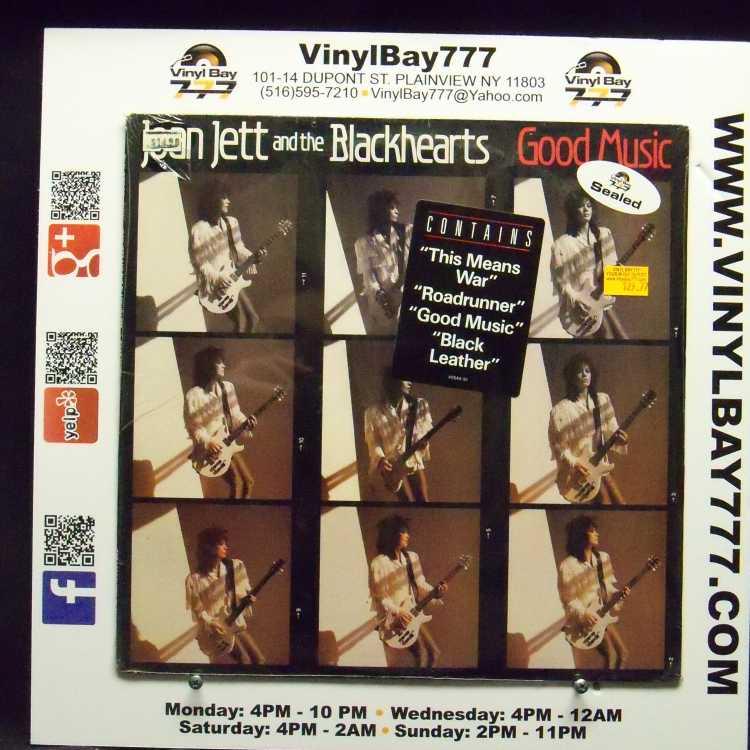 SEALED 12″ LP Joan Jett And The Blackhearts Good Music 1986 Blackheart  Records