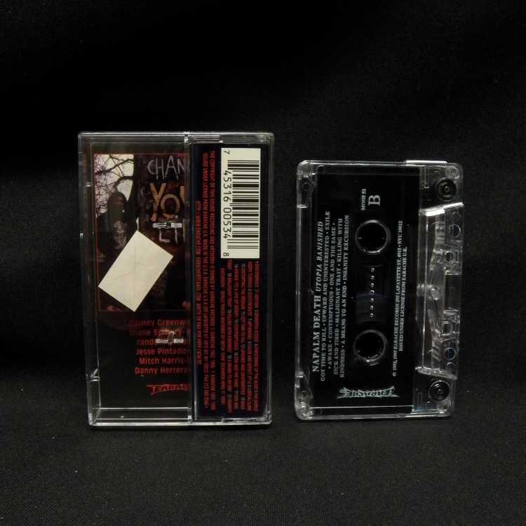 Used Cassette Napalm Death Utopia Banished 1996 Earache