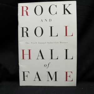 Rock And Roll Hall of Fame Induction Booklet 1995 1