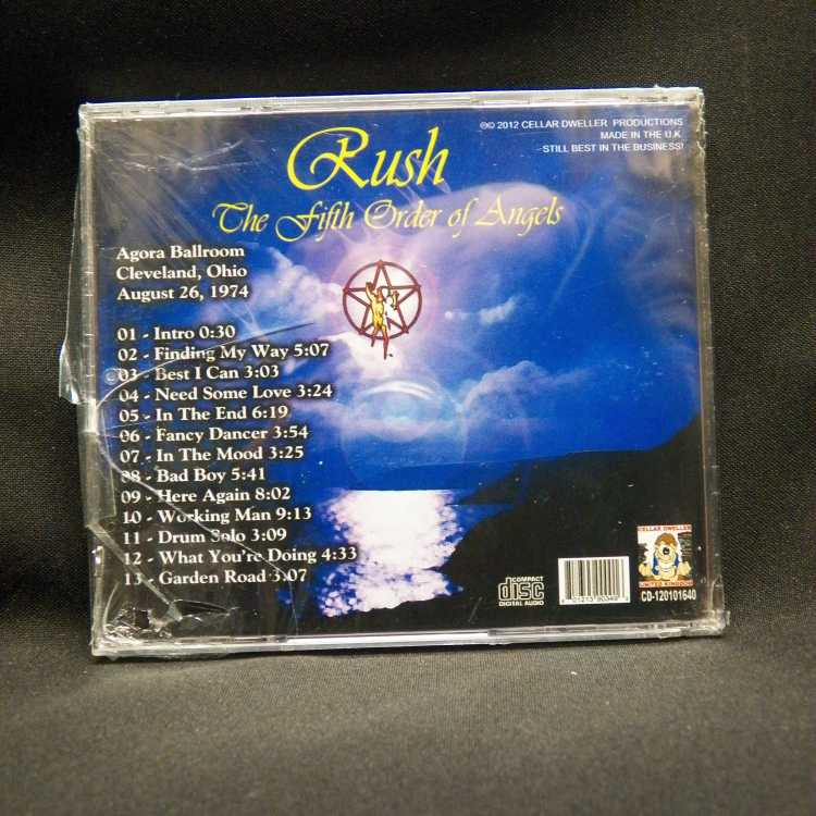 Sealed Cd Rush The Fifth Order Of Angels 2012 Cellar
