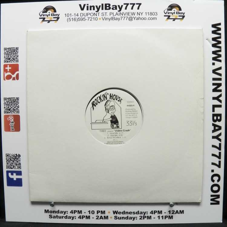 Used 12 single vg tyree video crash 1988 rockin 39 house for House music 1988