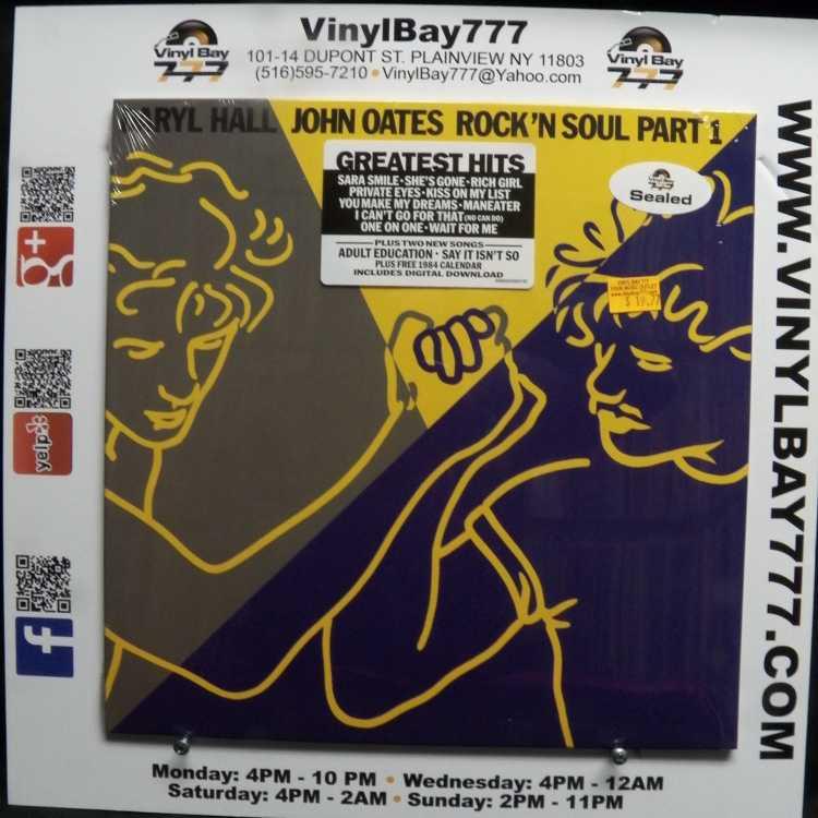 "Greatest Hits Rock N Soul Pt 1 Daryl Hall John Oates: SEALED 12"" LP Daryl Hall & John Oates Rock'n Soul Part 1"