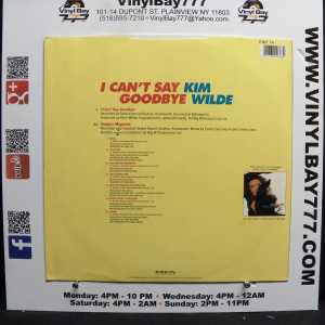 Kim Wilde I Can't Say Goodbye Used M- Import 12in Single 2
