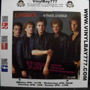 Loverboy Hot Girls In Love Used M- 12in 4-track Single 1