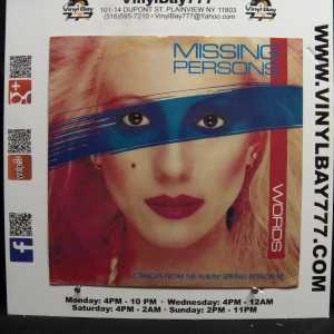 Missing Persons Words Used M- Import 12in 3-Song Single 1