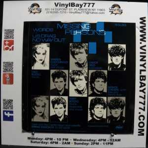 Missing Persons Words Used M- Import 12in 3-Song Single 2