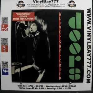 The Doors Alive She Cried Used VG++ 80s Press White Label Promo LP 1