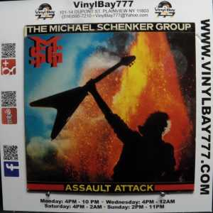 The Michael Schenker Group Assault Attack Used M- Promo LP 1