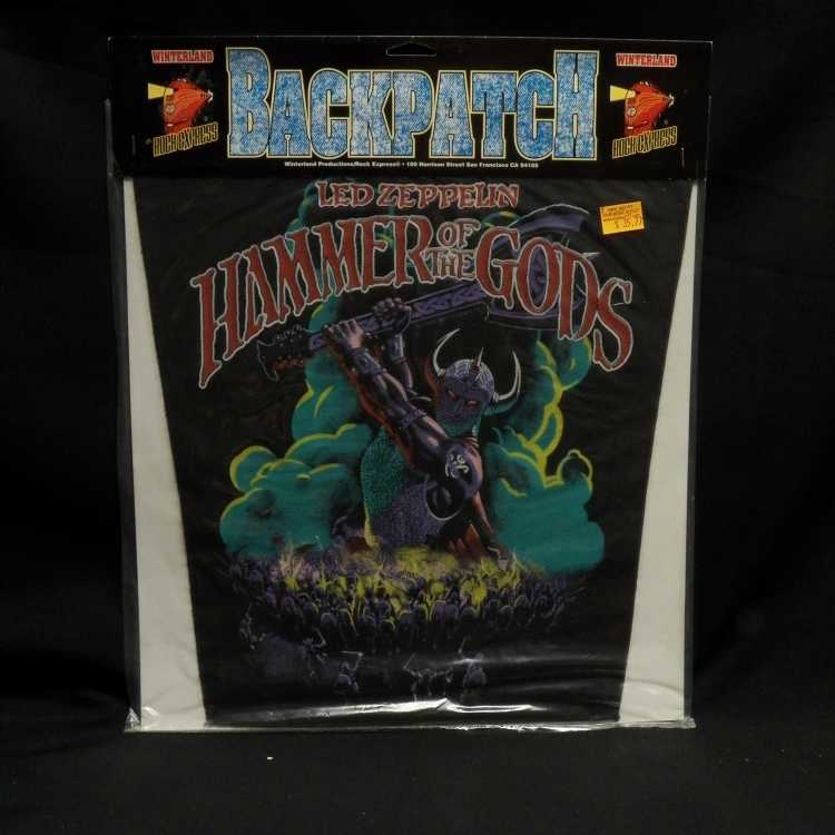 Sealed Back Patch Led Zeppelin Hammer Of The Gods 1989