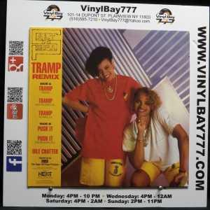 Salt-N-Pepa Tramp Push It Idle Chatter Used VG++ Colored 12in Single 1