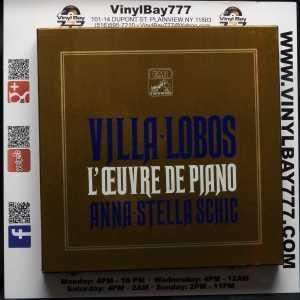 Anna-Stella Schic Villa-Lobos L'Oeuvre De Piano Used 9xLP Box Set 1