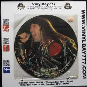 Iron Maiden Interview 12in Picture Disc Used VG++ 2