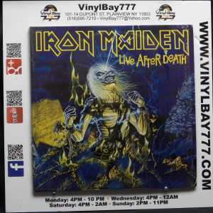 Iron Maiden Live After Death Used M- with Inserts 2xLP 1