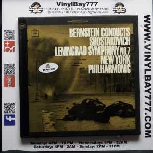 Leonard Bernstein Conducts Shostakovich Leningrad Symphony No. 7 New York Philharmonic Used Promo 2xLP Box Set 1