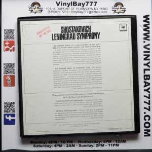 Leonard Bernstein Conducts Shostakovich Leningrad Symphony No. 7 New York Philharmonic Used Promo 2xLP Box Set 2