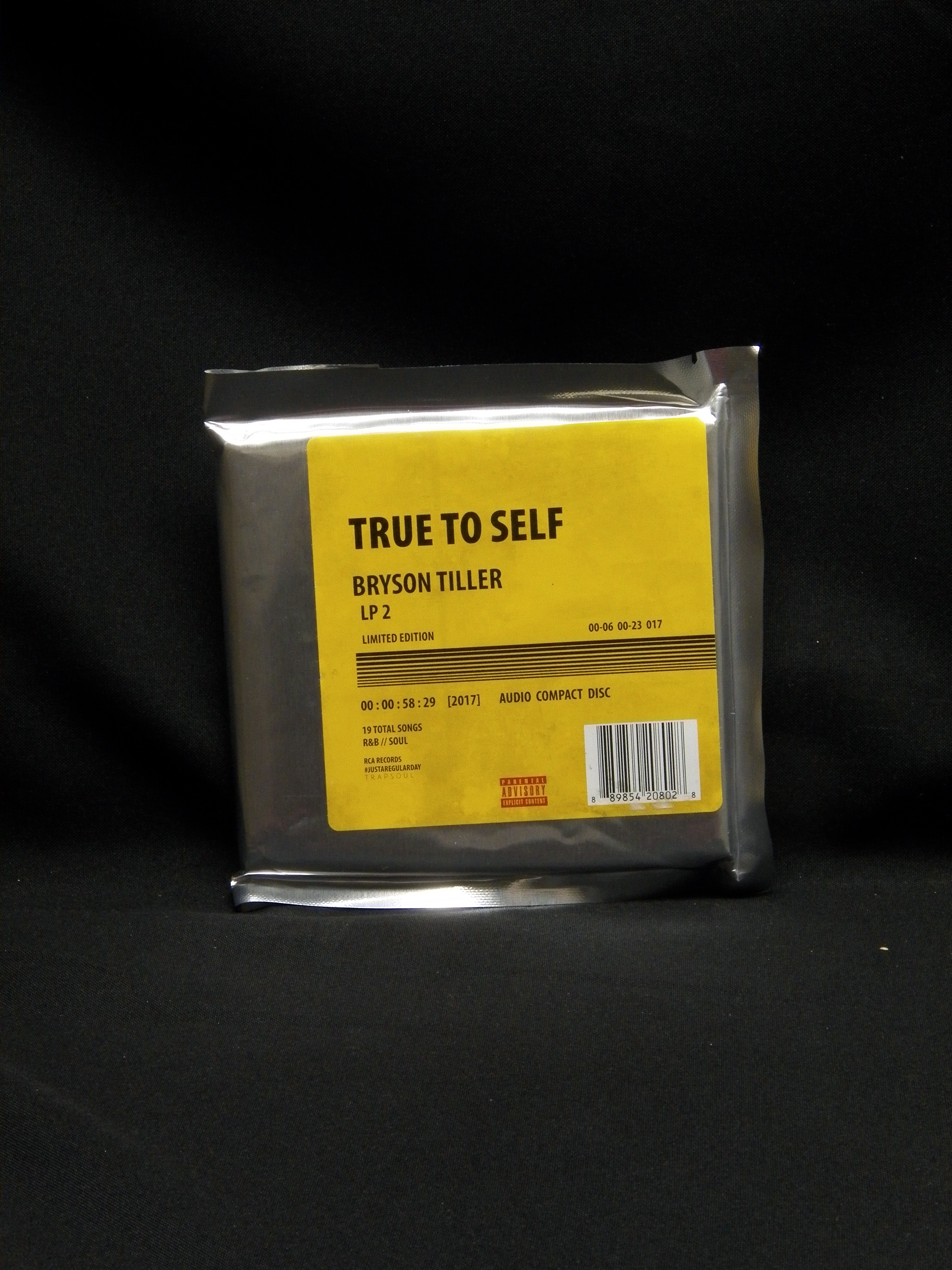 Sealed Cd Bryson Tiller True To Self Limited Edition 2017 Rca Records Vinylbay777