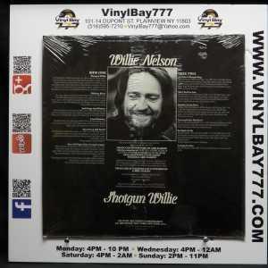 Willie Nelson Shotgun Willie LP 2