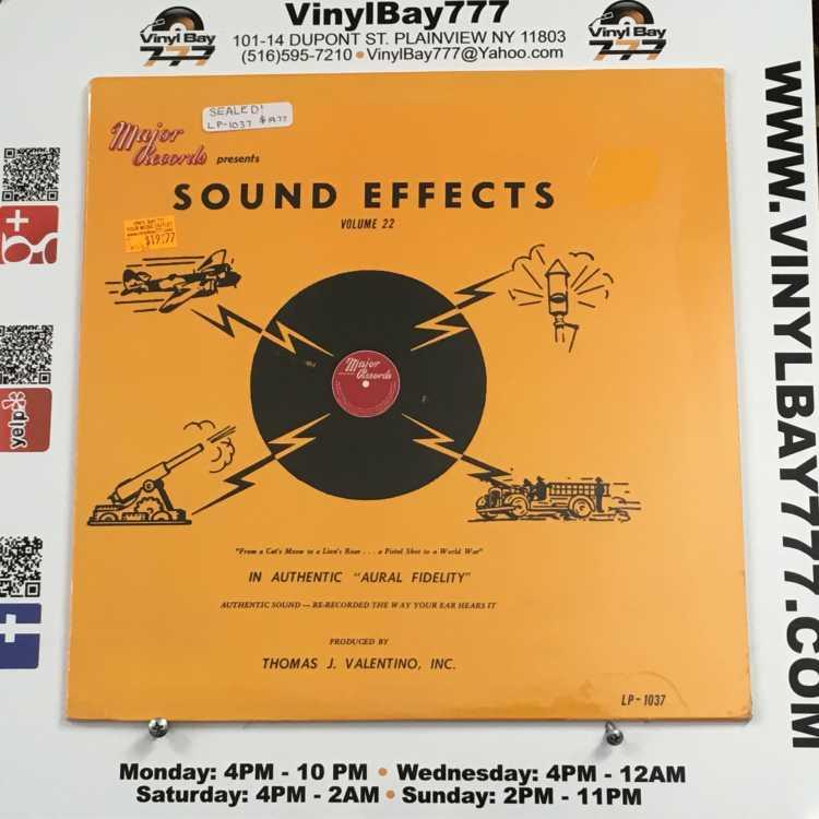 SEALED 12″ LP Sound Effects Volume 22 Major Records 1979