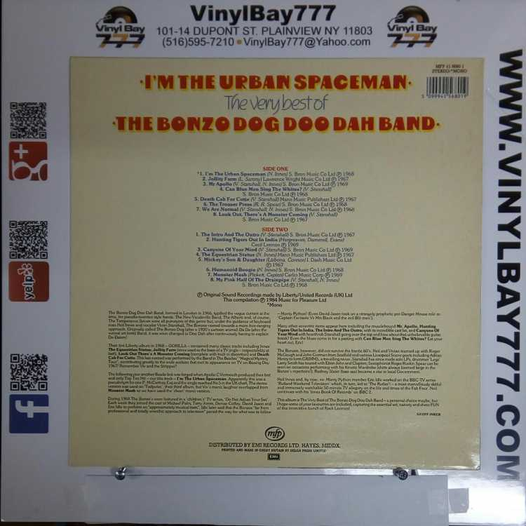 USED 12″ LP M- The Bonzo Dog Doo Dah Band I'm The Urban Spaceman: The Very  Best of The Bonzo Dog Doo Dah Band 1984 Music For Pleasure UK Import